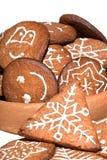 Домодельный пряник рождества Стоковая Фотография