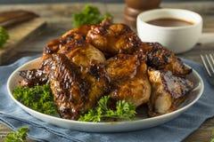 Домодельный пряный цыпленок BBQ барбекю Стоковые Фотографии RF