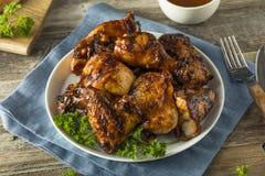 Домодельный пряный цыпленок BBQ барбекю Стоковая Фотография