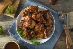 Домодельный пряный цыпленок BBQ барбекю Стоковые Изображения RF