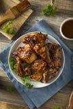 Домодельный пряный цыпленок BBQ барбекю Стоковые Фото