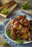 Домодельный пряный цыпленок BBQ барбекю Стоковое Изображение