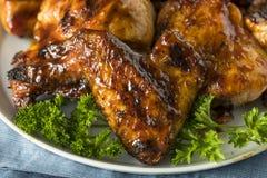Домодельный пряный цыпленок BBQ барбекю Стоковое Изображение RF