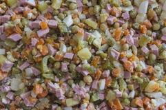 Домодельный салат от овощей и ветчины Стоковые Фотографии RF