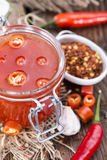 Домодельный соус Chili Стоковая Фотография