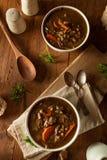 Домодельный суп ячменя гриба Стоковые Изображения