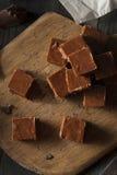 Домодельный темный Fudge шоколада Стоковые Фото
