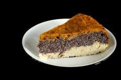Домодельный торт макового семенени сделанный от paleo и вегетарианских дружелюбных ингридиентов Стоковая Фотография RF