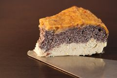 Домодельный торт макового семенени сделанный от paleo и вегетарианских дружелюбных ингридиентов Стоковая Фотография
