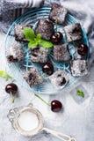 Домодельный торт пирожного вишни шоколада Стоковое Изображение RF