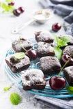 Домодельный торт пирожного вишни шоколада Стоковые Изображения