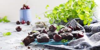 Домодельный торт пирожного вишни шоколада Стоковое фото RF
