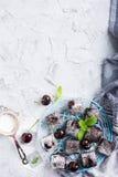Домодельный торт пирожного вишни шоколада Стоковое Фото
