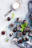 Домодельный торт пирожного вишни шоколада Стоковые Фотографии RF