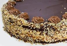 Домодельный торт фундука шоколада Стоковое Фото