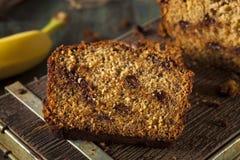 Домодельный хлеб банана обломока шоколада Стоковое Изображение RF