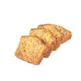 Домодельный хлеб банана отрезанный на белизне Стоковые Изображения