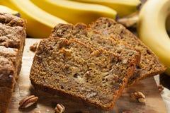 Домодельный хлеб гайки банана Стоковое Фото