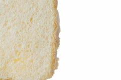 Домодельный хлеб, кусок, на белизне Стоковые Изображения RF