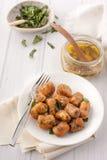 Домодельный gnocchi тыквы с мудрым маслом стоковое фото rf