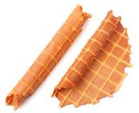Домодельный waffle изолированный на белизне Стоковые Изображения RF