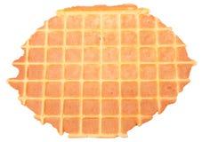 Домодельный waffle изолированный на белизне Стоковое фото RF