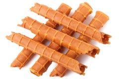 Домодельный waffle изолированный на белизне Стоковое Изображение RF