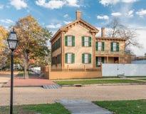 Дом Авраама Линкольна в осени Стоковое фото RF