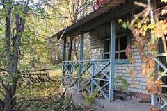 Дом ландшафта старый стоковые фотографии rf
