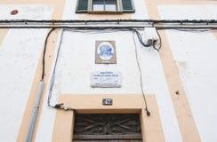 Дом лауреата Нобелевской премии в литературе Camilo Хосе Cela Стоковые Фотографии RF