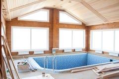Дом бассейна стоковые фотографии rf