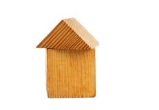 дом блока деревянная Стоковое Изображение