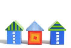 дом блока деревянная Стоковые Изображения