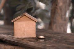 Дом Брайна деревянный Стоковая Фотография