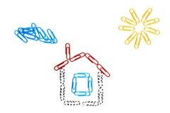 Дом бумажных зажимов Стоковое Изображение RF