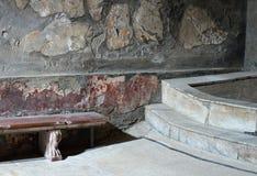 Дом ванны Геркуланума стоковое изображение rf