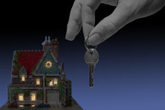 дом вечера Стоковое Изображение