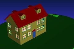 дом вечера Стоковая Фотография