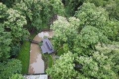 Дом взгляд сверху Стоковая Фотография RF