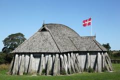 Дом Викинга в городе Hobro Стоковая Фотография