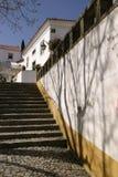 дом вне португальских шагов Стоковая Фотография