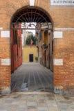 дом входа к venetian Стоковые Изображения