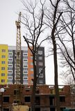 Дом высотного здания строения крана башни Стоковое Фото