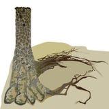 Дом в башне дерева Стоковое Изображение