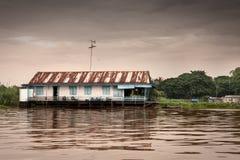 Дом в воде Стоковые Изображения RF