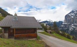 Дом в высокогорном селе Стоковая Фотография