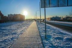 Дом в городе зимы Стоковые Фото