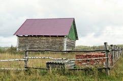 Дом в деревне под конструкцией Стоковое Фото
