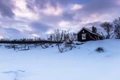 Дом в национальном парке Abisko, Швеции стоковое изображение