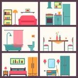 Дом в отрезке Детальный современный интерьер дома бесплатная иллюстрация